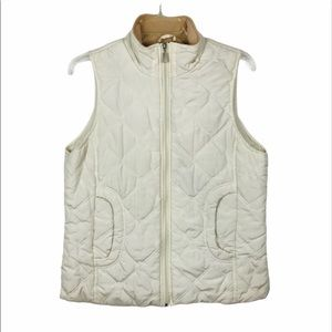 Jane Ashley Lightly Quilted Cream vest size M
